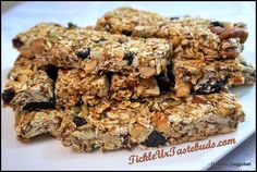 A very healthy snack which is rich in vitamins, minerals and proteins. Perfect substitute for breakfast or evening snack! Healthy Energy Bar Recipes, Healthy Desserts, No Bake Granola Bars, No Cook Appetizers, Just Cakes, Cookie Recipes, Food To Make, Sweet Tooth, Baking