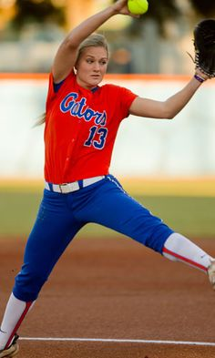 Hannah Rogers pitching for the Florida Gators. Awesome!