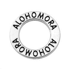 New Fashion 100 Pieces Lot Whoelsale Antique Silver Tone Affirmation Circle Alohomora Charm