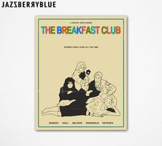 8x10 Art Print, Movie Poster Retro Pop Art, THE BREAKFAST CLUB by Modern Artist Jazzberry Blue. $14.00, via Etsy.