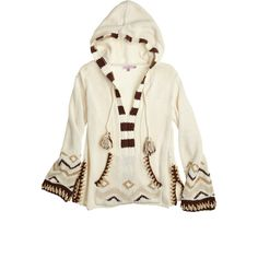 CALYPSO St. Barth Kearsley Crochet Cotton Hoodie ($399) ❤ liked on Polyvore featuring tops, hoodies, sweaters, jackets, outerwear, ivory cc, crochet tops, sweatshirt hoodies, crochet hoodie and cotton hoodies