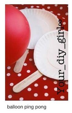 Balloon Ping Pong - I LOVE cheap & fun activities! I would be the balloon ping pong champ! Indoor Activities, Craft Activities For Kids, Summer Activities, Indoor Games, Summer Games, Indoor Play, Babysitting Activities, Babysitting Fun, Holiday Activities