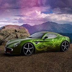 Cool Alfa Romeo 8C | Repinned by www.BlickeDeeler.de [Oh good Lord I love this image. Car porn. Shame it's digital add on. The original image had red paint. ~sdh/HHBakes.com]