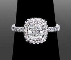 Cushion Cut Diamond Engagement Rings by Vanessa. https://www.vanessanicoleengagementrings.com/cushion-cut-diamond-engagement-rings/