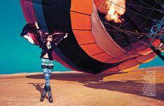 Up, Up & Away: Sarah Pauley Enchants for Vogue India Shoot by Mazen Abusrour