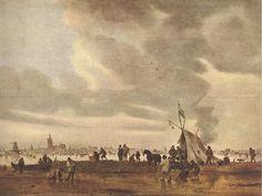 Jan van Goyen : View of The Hague in Winter (Hermitage Museum) 1596-1656 ヤン・ファン・ホーイェン