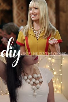 DIY Caroline Channing Necklace 2 Broke Girls Inspiration
