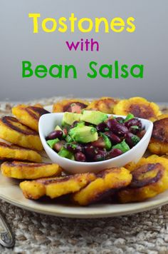 Tostones with Bean Salsa #MeatlessMonday