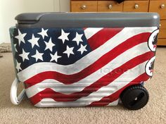 awesome cooler by christinescoolers on ETSY! Fraternity Coolers, Frat Coolers, Sorority Canvas, Sorority Paddles, Sorority Recruitment, Formal Cooler Ideas, Coolest Cooler, Yeti Cooler, Cooler Designs
