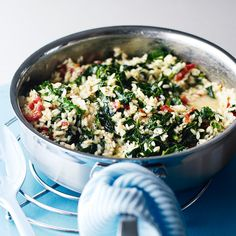 Enjoy your winter greens with this tasty, comforting risotto recipe that's ready in only 30 minutes.