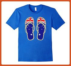 Mens Australia Flips Flops T-Shirt - Retro Beach Aussie Flag Tee XL Royal Blue - Retro shirts (*Partner-Link)