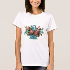 Blue Flower Basket T-Shirt - click to get yours right now!
