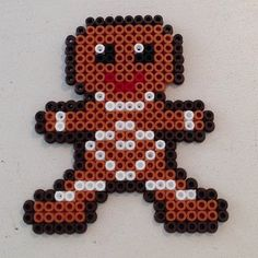 Gingerbread man - Christmas hama perler beads by lauras_krea