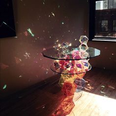Amazing Prism Table. I'll have this in my front room, where the sun comes in, and have my propeller table in the back room.