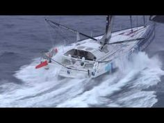 Vendee Globe - Hugo Boss & Banque Populaire VIII Shot from French Navy Helicopter - Old Salt Blog