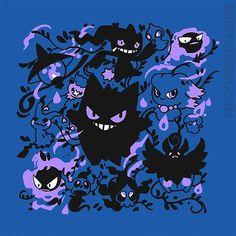 Haunted Types from ShirtPunch Gengar Pokemon, Pokemon Memes, Cute Pokemon, Pokemon Go, Pokemon Fantasma, Ghost Type Pokemon, Neko, Day Of The Shirt, Apple Watch Wallpaper
