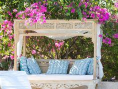 """""""Es hora de visitar #Karmairi #Cartagena"""" Outdoor Furniture, Outdoor Decor, Bench, Home Decor, Beach Club, Cartagena, Decoration Home, Room Decor, Benches"""