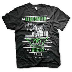 Aerosmith - ROCKS Tour heren unisex T-shirt zwart - Band merchandise