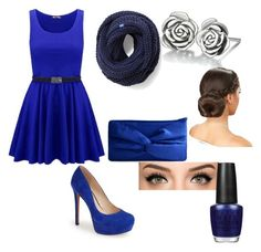 """""""BLUE"""" by vmanning on Polyvore featuring Jessica Simpson, Keds, Chamilia and OPI"""