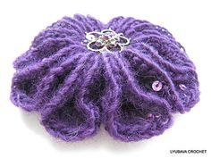 "Ravelry: LyubavaCrochet's Crochet Brooch ""Scarlet Flower"""