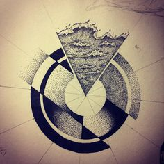#sea #drawing #sketch #doodle #dotwork #dots #pointilism #circles #geometric…