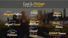 Cool & Vintage Lower Third  • After Effects Template • See it in action ➝ https://videohive.net/item/cool-vintage-lower-third/16145719?ref=pxcr