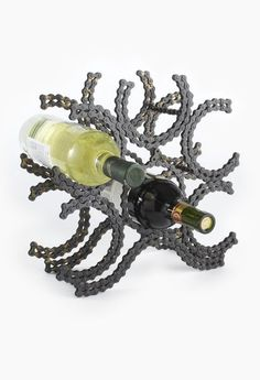 Recycled Bike Chain Wine Rack