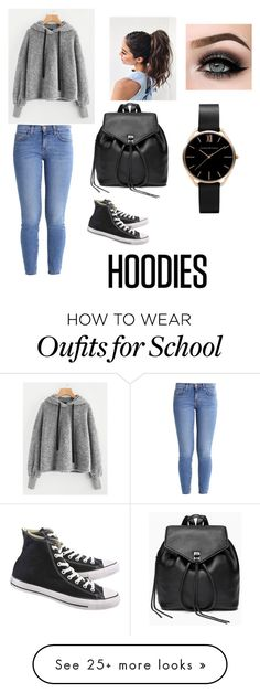 """School Hoodie"" by jazmyne07 on Polyvore featuring Current/Elliott, Converse, Rebecca Minkoff, ASAP and Hoodies"