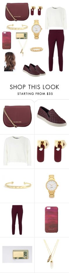 """please be honest do you like this outfit?"" by danifoncea ❤ liked on Polyvore featuring MICHAEL Michael Kors, Steve Madden, Glamorous, Marc by Marc Jacobs, Kate Spade, RED Valentino, Jigsaw, In God We Trust, Privileged and Charlotte Russe"