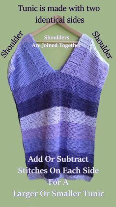 pop over tunic a free crochet pattern by catsrockincrochet