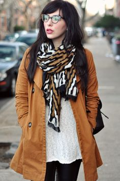 I want this Tory Burch scarf! Cute look altogether.