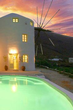 Windmill Sunset, Pori, Santorini