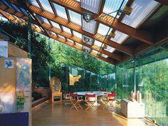 斜屋頂與聚會空間。陳列與展示 Renzo Piano Building Worshop