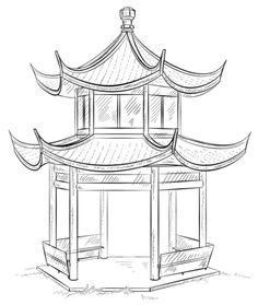 Chinese Pagoda Coloring page