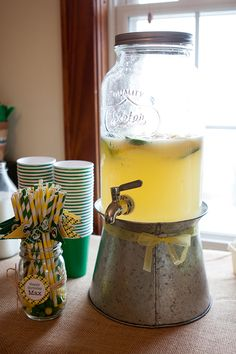 John Deere birthday party - awesome drink dispenser!