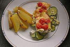 Seelachsfilet auf Zucchinibett, ein raffiniertes Rezept aus der Kategorie Fisch…