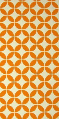 Embossed Vintage Original Orange Abstract Wallpaper