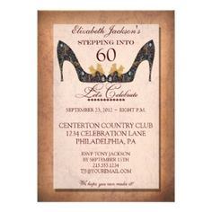 19 Best 60th Birthday Invitations Images On Pinterest