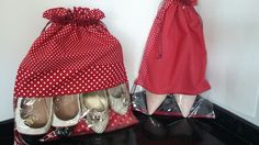 Camélia Atelie: saco organizador para sapatos tamanho M (dois pares) e tamanho P (um par)