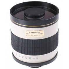 The Samyang Mirror Lens is a high-quality, computer designed product that incorporates the merits of both reflex optics and refraction optics. Digital Camera Lens, Camera Nikon, Distancia Focal, Canon Eos Rebel T6, Canon Powershot, Canon Lens, Coolpix, Focal Length, Lenses