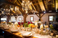 Table Decor, Riverside Farm Event Catering by Cloud 9 Caterers, Floral by A Schoolhouse Garden