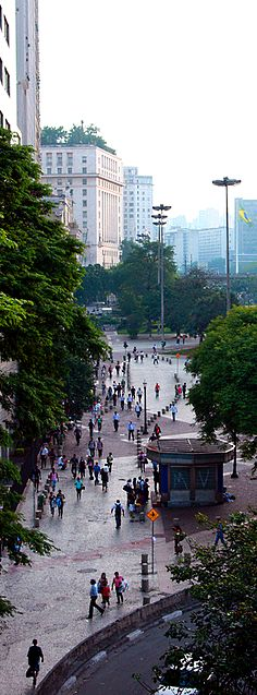 Vale do Anhamgabaú, the core of the historical city center in São Paulo, Brazil