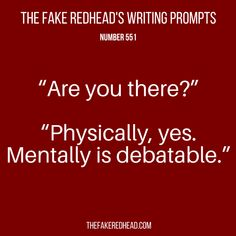 The Fake Redhead Writes Writing Inspiration Prompts, Book Prompts, Dialogue Prompts, Book Writing Tips, Creative Writing Prompts, Writing Words, Writing Quotes, Writing Skills, Writing Ideas