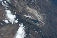 NASA astronaut Karen Nyberg, currently onboard the International Space Station, shares her orbital perspective of Utah's Great Salt Lake 28 June 2013