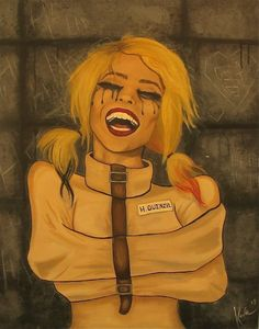 "Kayla Gilkinson 'Harleen Quinzel' 30"" x 24""- She can be happy and said at the same time, or those are tears of joy."