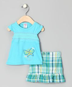 Blue Butterfly Tee & Skort - Infant