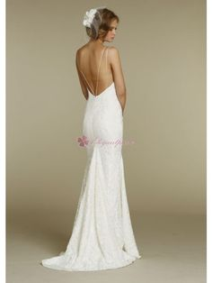 Fitted slim sheen lace bridal gown – Vintage Wedding Dress  | followpics.co