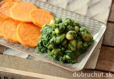 Voňavý špenát s fazuľou a pečeným batatom Sprouts, Broccoli, Ale, Vegetables, Food, Turmeric, Ale Beer, Essen, Vegetable Recipes