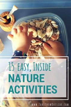 Help encourage a love and appreciation for nature with these 15 easy indoor nature activities for kids. learn how your kids can play with nature even when you're stuck indoors! Forest School Activities, Nature Activities, Autumn Activities, Craft Activities For Kids, Family Activities, Summer Activities, Preschool Activities, Kids Crafts, Activity Ideas