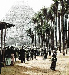 1896 Berlin - Treptower Park, Eröffnung der Gewerbeausstellung 1896 durch Kaiser Wilhelm II.